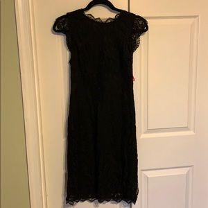 Xhiliration Black Lace LBD